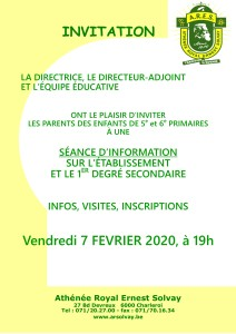 invitation soirée INFO 2020